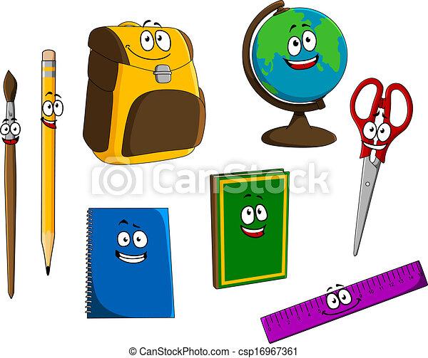 clip art vector of cartoon school objects set for school bus clipart simple school bus clip art download free