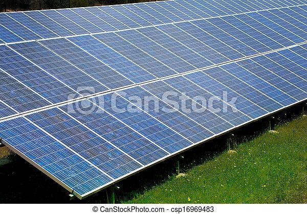 Solar plates for green sun energy - csp16969483