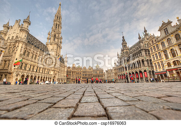 Grand Place - Brussels, Belgium - csp16976063