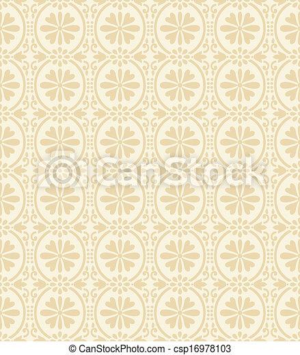 Floral wallpaper - csp16978103