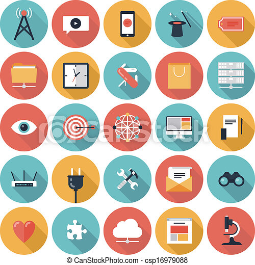 SEO and web icons set - csp16979088