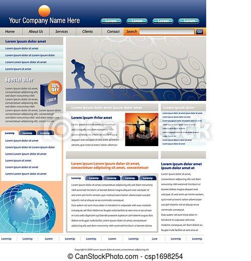 vector website template - csp1698254