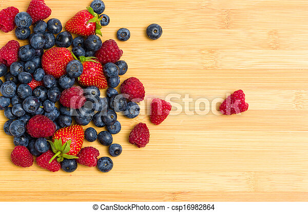 Close up of heap of berries on the table