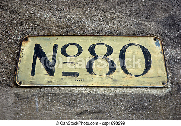 Sign with the number 80.