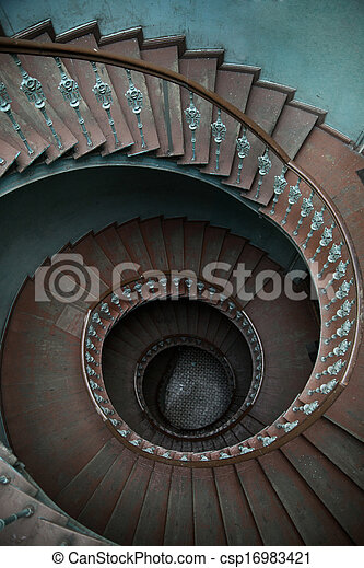 casa legno, casamento, scale - csp16983421