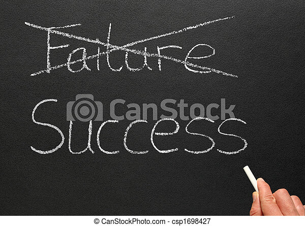 Crossing out failure and writing success. - csp1698427