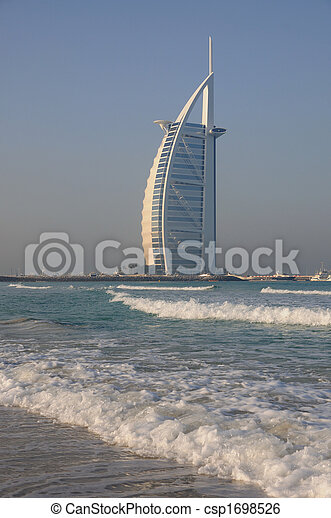 Hotel Burj Al Arab in Dubai, United Arab Emirates
