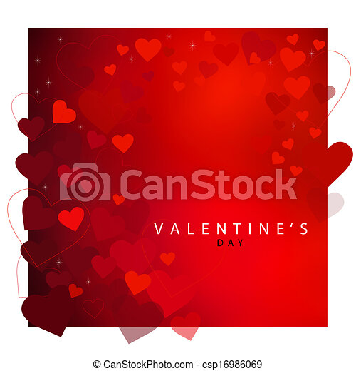 Red heart background for Valentine's day - csp16986069