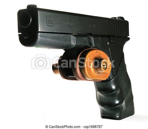 Semi-automatic handgun with trigger lock - csp1698787