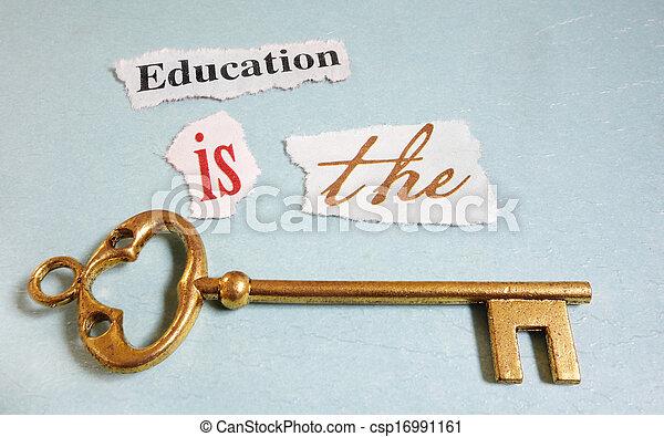 Educação, tecla - csp16991161