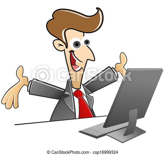 Clip Art of good news from the internet csp16999324 - Search ...