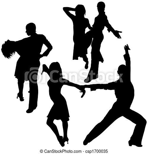 Latino Dance Silhouettes - csp1700035