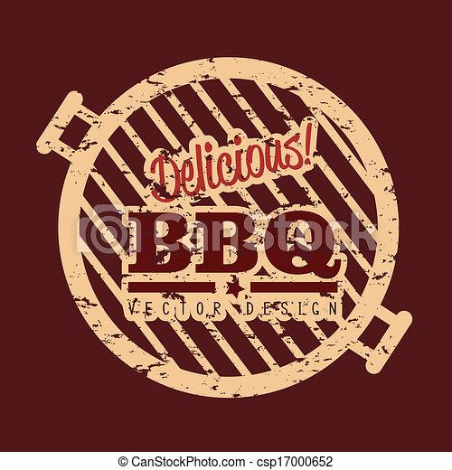 Clipart vector van ontwerp bbq bbq ontwerp op rood achtergrond vector csp17000652 - Barbecue ontwerp ...