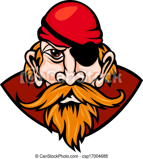 Vecteur de pirate danger head de danger pirate dans - Tete de pirate dessin ...