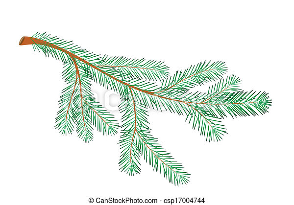 EPS Vector Of Christmas Tree Branch Csp17004744 - Search Clip Art Illustration Drawings And ...