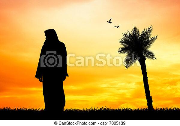 Jesus silhouette - csp17005139