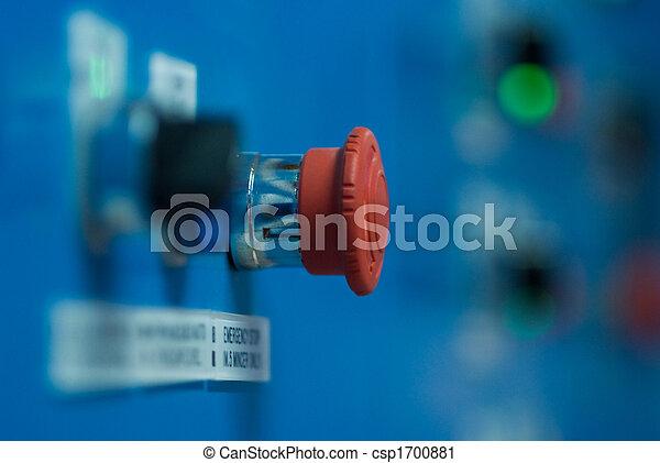 ボタン, 止まれ, 緊急事態 - csp1700881