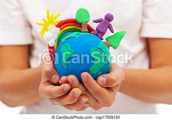 生活, 概念,  -, 環境, エコロジー, 地球 - csp17009150