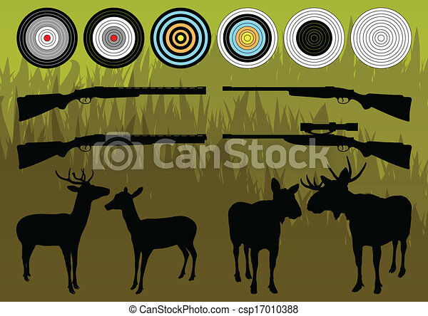 Shooting Range Silhouettes Shooting Range Wild Deer