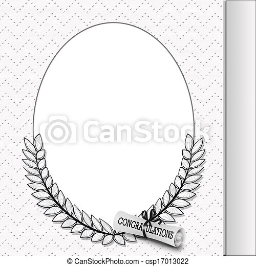 Clip Art Of Graduation Frame With Diploma Oval