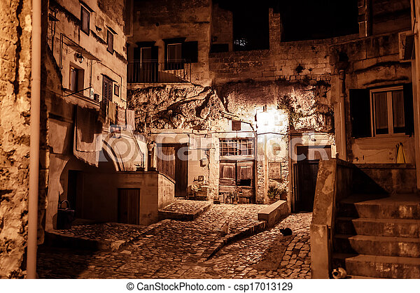 Ancient city Matera in Italy - csp17013129