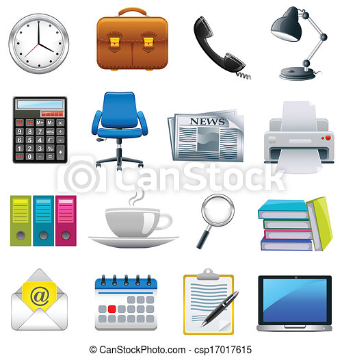 clip art vecteur de bureau objet facile diter. Black Bedroom Furniture Sets. Home Design Ideas