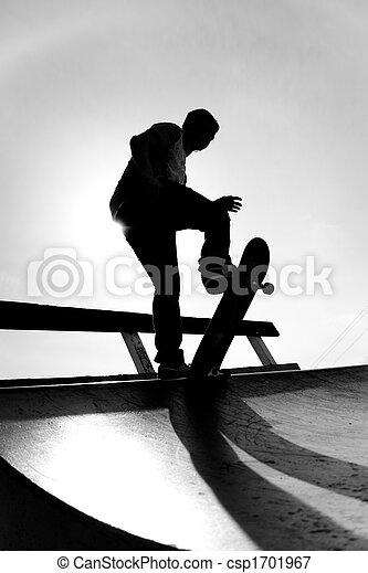 Skateboarder Silhouette - csp1701967