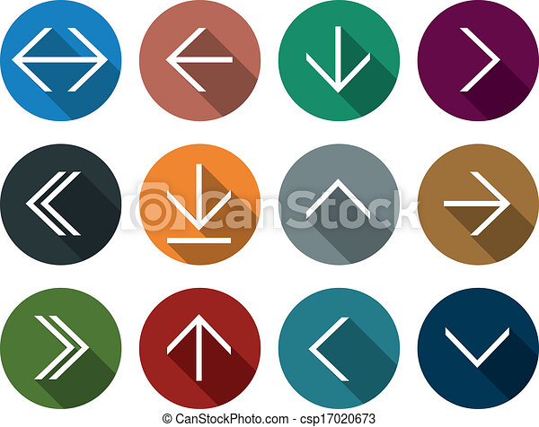 Vectors Illustration of Flat arrow icons. - Vector illustration of ...