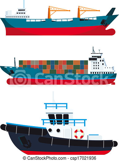 cargo vessels and tugboat vector eps instant download tugboat clipart black and white Tugboat SVG