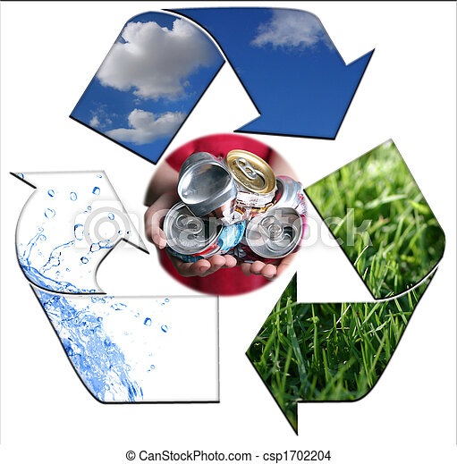 Keeping the Environment Clean With Recycling Aluminum - csp1702204
