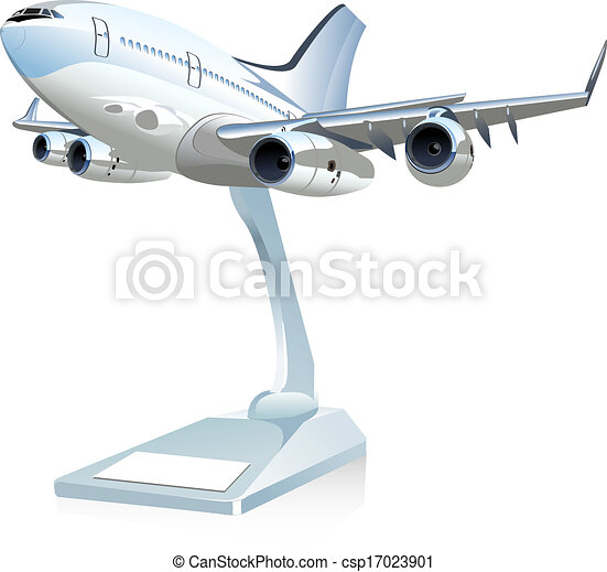 Vector cartoon airliner available eps 10 vector format separated by