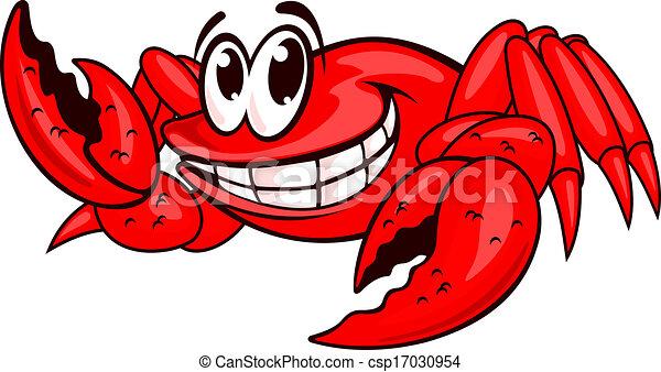 微笑, 红, 海, 螃蟹, 爪子, 矢量, 描述