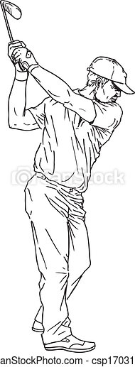 Vintage Golf And Golfers - Hand Drawn Vectors, Freehands