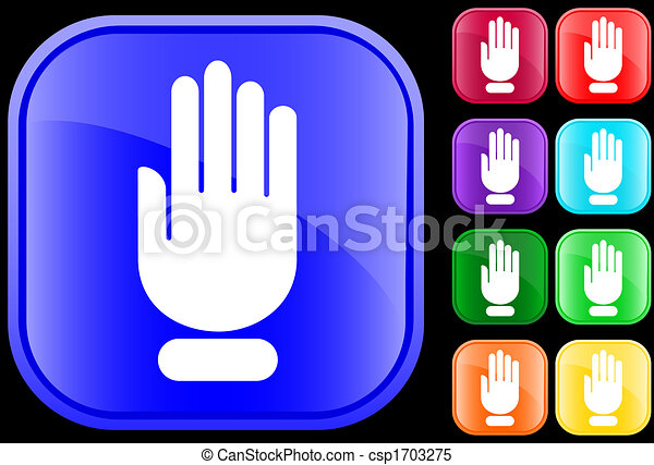 Icon of stop hand - csp1703275