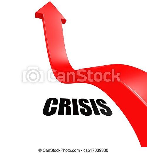 Arrow Leap Over Crisis Stock Illustration