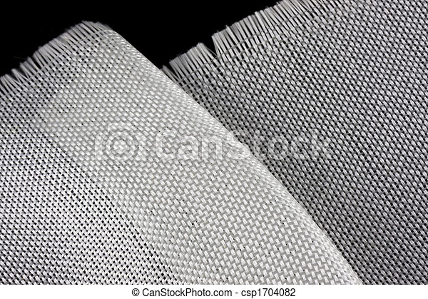 fiberglass cloth on black backround - csp1704082