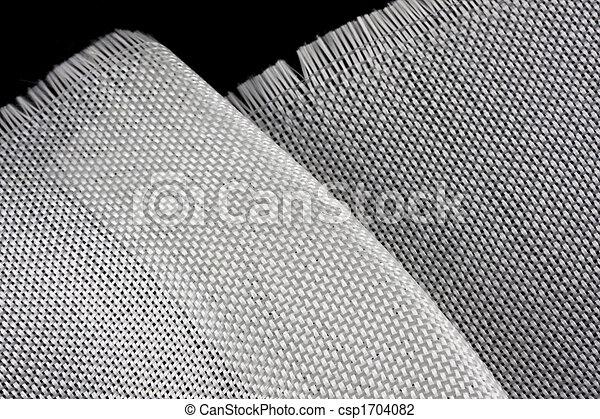 fiberglass cloth on black backround - csp1704082
