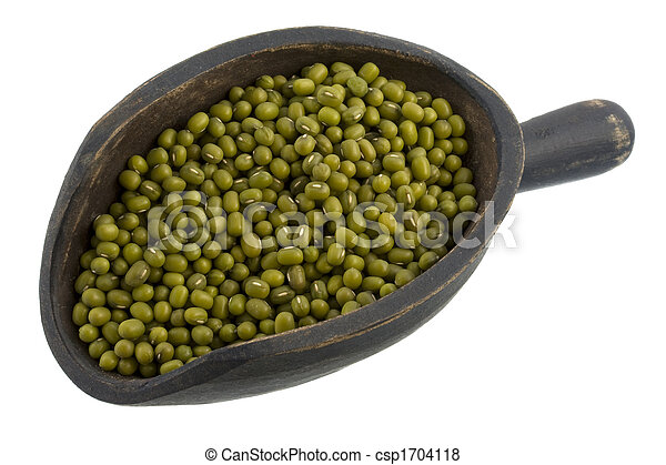 scoop of mung beans - csp1704118