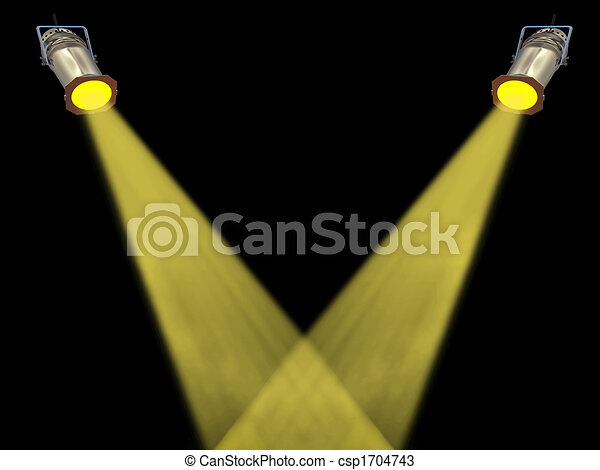 Two yellow spot lights - csp1704743