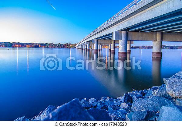 bridge over lake wylie - csp17048520