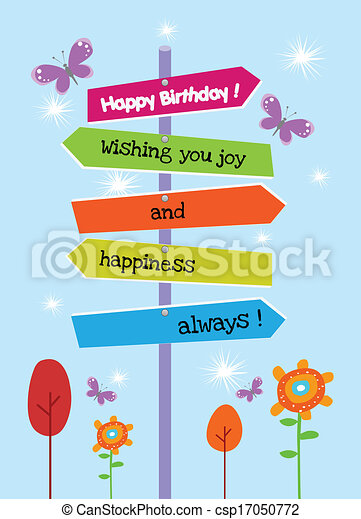 The Right Happy birthday Direction - csp17050772