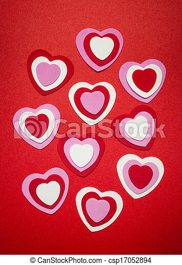 Red and pink Valentines day hearts - csp17052894