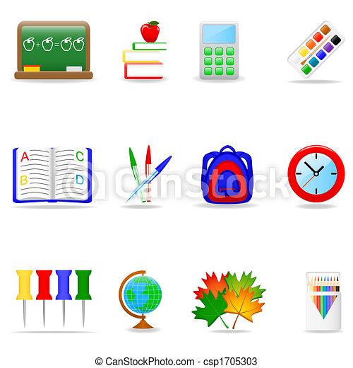 Education icon set - csp1705303
