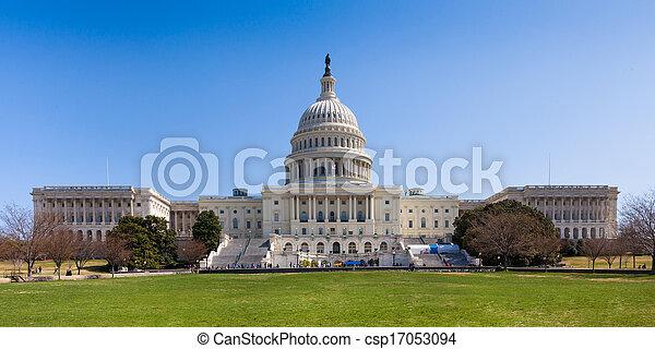 US Capitol Building in Washington DC - csp17053094