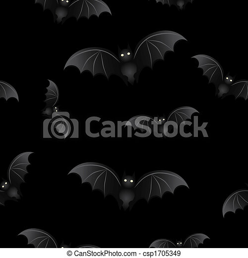 Halloween background Bats - csp1705349