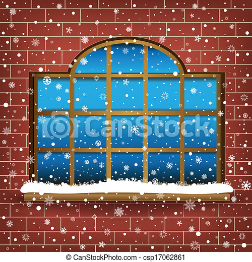 Clip art vecteur de grand fen tre neige les grand for Fenster 800x800