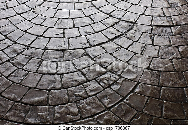 Dark Rustic Floor Paving Stone Pattern - csp1706367