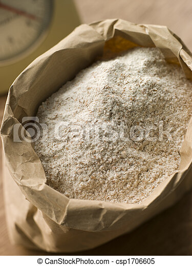 Plain flour in paper bag - csp1706605