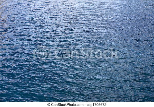 Gentle Blue Ocean Water Waves - csp1706672