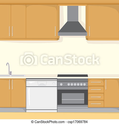 Vector Of Kitchen Background Background Illustration Of A Modern Csp17069784 Search Clip